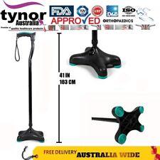 Tynor Adjustable Ergonomic Black Walking Quadripod (soft Handle) MOULDED Base