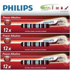 PHILIPS AAA lunga durata LR03 BATTERIE 1.5V Power Alkaline Batteria - 36 PACCO