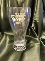 """Harp Lager Double Logo Pilsner Beer Glass 18 oz 7 """" Tall"""