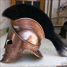 Movie 300 King Leonidas Spartan Helmet Greek Warrior Costume Helmet w Black Plum