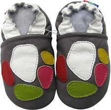 carozoo colorful marbles 3-4y soft sole leather baby shoes