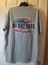 NWT Men's NO BAD DAYS GREY GRAY AMERICANA THEME GRAPHIC T-SHIRT size Large