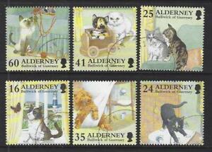 ALDERNEY 1997 ALDERNEY DOMESTIC CATS SET OF 6 FINE USED