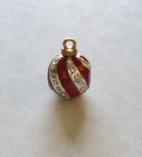 Brighton Spacer Charm- Ornament shape- red-clear crystals  Christmas holiday