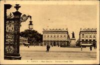 Nancy Frankreich CPA ~1910/20 Place Stanislas Théâtre et Grand Hôtel Denkmal