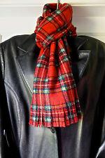 Men's, Women's Red tartan scarf Traditional Scottish Royal Stewart plaid scarf