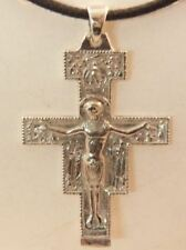 CROCE  SAN DAMIANO IN ARGENTO 925 STERLING SILVER SAINT DAMIANO CROSS