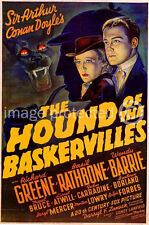 The Hound of the Baskervilles Vintage Movie 11x17 Poster