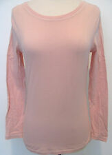 CHA CHA VENTE Soft Pink Long Sleeve Sleeve Top With Stitched Design Size M