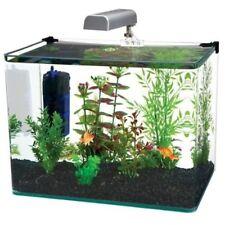 Penn-Plax Water World Radius Curved Corner Glass Aquarium Kit 7.5-gallon