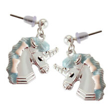 1pair unicorn earrings,unicorn pendant ear rings,Cute earrings,Blue color