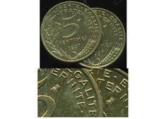 5 centimes 1997   MARIANNE    ( abeille eloignée )  PAS COURANT  ( bis )