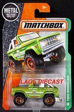 2016 Matchbox #118 (1972) Ford Bronco 4x4 GREEN / LEIPZIG WORLD TRAVELS / MOC