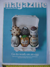 Sunday Herald Mag 12th April 2009. Artist eggs.Gabby Logan.Lemar.Howie Nicholsby