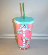 starbucks watermelon collectors cold cup grande tumbler nwt 16 oz.