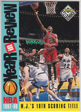 """1998-99 UD CHOICE YEAR IN REVIEW SUBSET: MICHAEL JORDAN #189""""10th SCORING TITLE"""""""