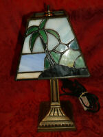 Tiffany Style Stained Glass Leaded Accent Table Lamp/Night Light 11.5""