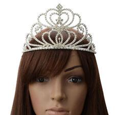 Bridal Princess Austrian Crystal Tiara Wedding Crown Party Hair Accessory Silver