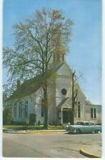Bridgeville Delaware Union Methodist Church & Car 1950s Antique Postcard  26136