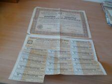 (Y1) TITRE ANCIEN OBLIGATION ACIERIES FORGES BRIANSK RUSSIE 500 F 1904