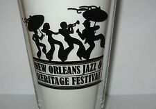 """New Orleans Louisiana Jazz & Heritage Festival 5 3/4"""" Tall Beer Glass"""