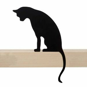 ARTORI Design Cats' Meow Princess Cat Statue Figurine Silhouette Black Shelf