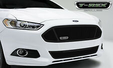 2PC BLACK UPPER CLASS MESH GRILLE GRILL T-REX FITS 2013 2014 2015 FORD FUSION