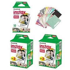 Fuji Instax White 50 Film For Fujifilm Mini 8 90 70 50s 25 300 + 20 Sticker