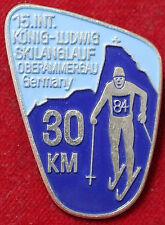 Deportes de invierno insignia 15. int. rey-Ludwig montañismo 30 km Oberammergau 1984