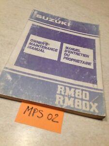 Suzuki RM80X RM80 X RM 80 RM L 1990 Manual Mantenimiento Propietario Conductor