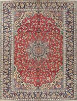 Najafabad Wool Hand-Knotted Traditional Floral Oriental Area Rug 10x13