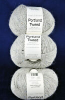 ⚪CLASSIC ELITE Portland Tweed Wool/Alpaca Blend LOT of 3 Yarns Gray 50gx3 Italy