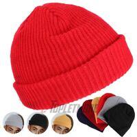 Fisherman Warm Winter Knit Ski Cuff Beanie Cap Watch Cap Daily Hat Short Skull