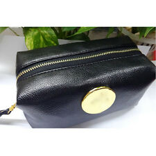 Women PU Leather Make Up Cosmetic Bag Wash Toiletry Travel Bag Makeup Organizer