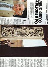SP61 Clipping-Ritaglio 1988 Emilio Greco scultore e poeta