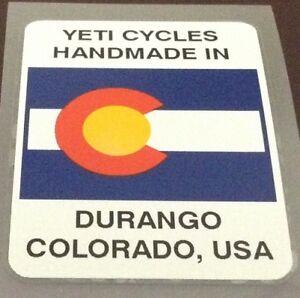 Yeti Cycles Handmade in Durango Decal (Yeti904)