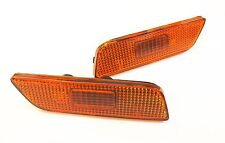 Volvo S80 (1999-2006) NEW! Pair Amber Bumper Light Lens & Reflectors 9188263/4