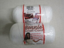 2 Craft County 6mm Bonnie Cord - White Colors - 100 yards - Great for Macramé