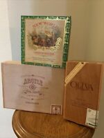 empty wooden cigar boxes