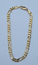Men's Figaro Chain Bracelet - 10K Yellow Gold - Claw Clasp - 8 Inches by 4mm