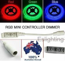 RGB LED STRIP LIGHT MINI CONTROLLER DIMMER 12V 3528 5050 FLASHING MULTI COLOUR