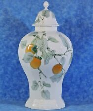 "13"" Ginger Jar/ Vase, Lid- Villeroy & Boch Gallo LOMBARDIA APRICOT- Germany-EC!"