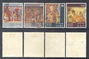 Sri Lanka-Ceylon 1973 Painting-set.SG.599-602.
