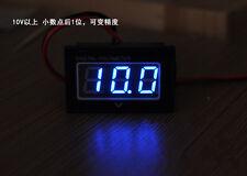Waterproof Monitor DC 3.0- 30V Auto Gauge Digital Voltmeter Blue LED