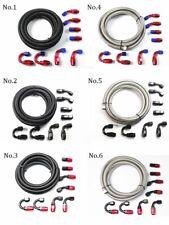 10ft Braided Fuel Hose Line + Swivel Hose End Fitting Kit 4AN/6AN/8AN/10AN/12AN
