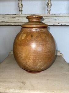 Harding Black 1974 Urn Vase Jug Lidded Lid Pottery