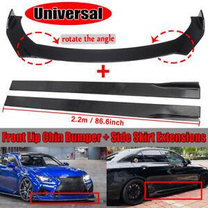 Universel Avant Pare-chocs Lèvre Jupe Latérale Splitter Pour Honda BMW Benz VW