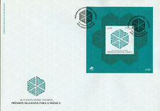 More details for portugal 2019 fdc aga khan music awards 1v m/s cover stamps