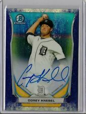 2014 Bowman Chrome Corey Knebel Static Bubbles Refractor Auto #08/10