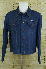 Vintage Wrangler 125MJ Blue Denim Jean Western Trucker Jacket Mens Sz 44 USA